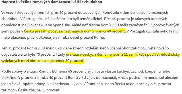vzdělávání Romů studie EU